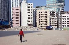 Demolizione in città cinese Fotografia Stock