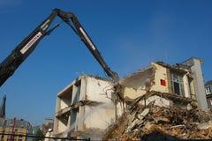 Demolizione controllata Fotografia Stock