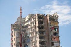 Demolizione degli appartamenti Fotografie Stock Libere da Diritti