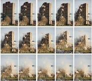 Demolizione del blocchetto di torretta Immagini Stock Libere da Diritti