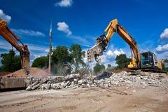 Demolizione del luogo Fotografia Stock