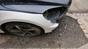 Demolizione dell'assicurazione auto di incidente fotografie stock