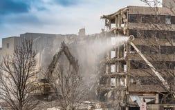 Demolizione dell'ospedale trasversale d'argento immagini stock
