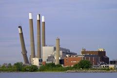 Demolizione della centrale elettrica Fotografia Stock