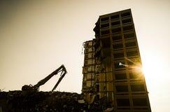 Demolizione della costruzione Fotografia Stock
