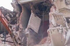 Demolizione delle costruzioni a urbano Immagine Stock Libera da Diritti