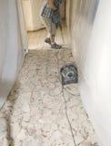 Demolizione di ceramica 3 del pavimento non tappezzato Immagini Stock Libere da Diritti