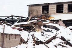 Demolizione di costruzione abbandonata Fotografia Stock