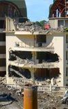 Demolizione di costruzione illegalmente costruita Immagini Stock Libere da Diritti