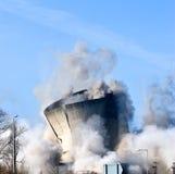 Demolizione di una centrale elettrica Fotografie Stock