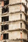 Demolizione di una costruzione Immagini Stock Libere da Diritti