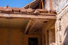 Demolizione di vecchia costruzione Fotografia Stock Libera da Diritti