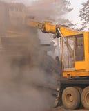 Demolizione di vecchia costruzione. Fotografie Stock
