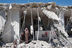Demolizione israeliana della casa palestinese Fotografia Stock Libera da Diritti