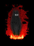 Demon. A demon being born in fire Royalty Free Stock Photo