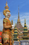 Demon. Gate-guardian , a mythical figure outside of the grand palace, temple of the emerald buddha, Bangkok Thailand Royalty Free Stock Images