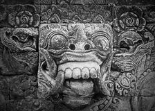 Demon in Balinese temple Stock Images