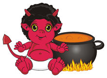 Demon and boil Royalty Free Stock Image