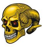 Demon czaszka Zdjęcia Royalty Free