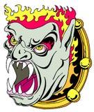 Demon in de spiegel vector illustratie
