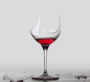 Demon drink red wine in glass Stock Images