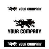 Demon en dieren eenvoudig embleem Royalty-vrije Stock Fotografie