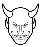 Demon face. Illustrator design . eps 10 Stock Illustration