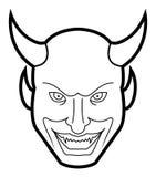 Demon face. Illustrator design .eps 10 Stock Photo