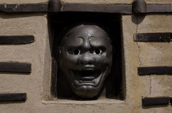 Demon face in temple's wall, Kyoto Japan Stock Photography