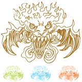 Demon Faces Royalty Free Stock Photo
