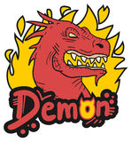 Demon fire. Creative design of demon fire Stock Images
