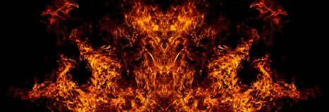 Demon from the fire. A nightmare, a symbol of evil, aggression Stock Photos