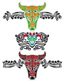 Demon fool joker tattoo pattern Stock Photo