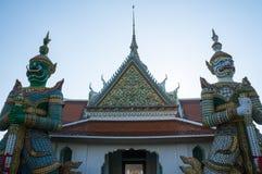 Demon Giant or Yak guardians at the Temple of Dawn Wat Arun Ratchawararam Ratchawaramahawihan or Wat Arun royalty free stock photography
