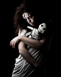 Demon girl. A scary looking girl possessed by a demon Royalty Free Stock Image