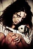Demon girl stock image