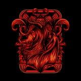 Demon Girl Vector illustration design stock illustration