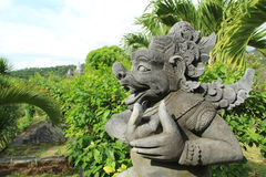 Demon god statue at Bali Temple in Indonesia Royalty Free Stock Photography