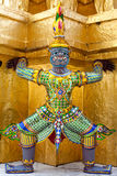 Demon Guardian golden Chedi at Wat Phra Kaew Royalty Free Stock Photography