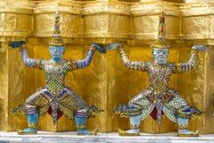 The demon guardian. In the grand palace, Bangkok Royalty Free Stock Photo
