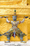 The demon guardian in the grand palace. Bangkok Stock Images