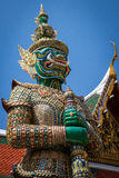Demon guardian. Grand palace Bangkok Royalty Free Stock Images