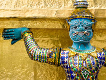 Demon Guardian Outside Buddhist Temple in the Grand Palace, Bangkok Royalty Free Stock Photos