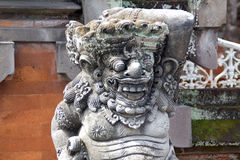 Demon guardian spirit house at temple entrance in Bali,Indonesia royalty free stock image