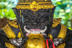 Demon guardian statue at Buddhist temple Stock Photography