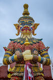 Demon Guardian statues decorating the Buddhist temple in Udon Thani ,Thailand. Royalty Free Stock Photo