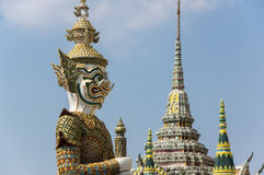 Demon guardian in Wat Phra Kaeo Stock Images