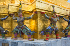 Demon guardian in Wat Phra Kaeo Royalty Free Stock Photos