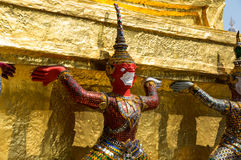 Demon guardian in Wat Phra Kaeo Stock Photos