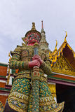 Demon Guardian Wat Phra Kaew Stock Photo